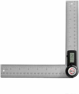 "GemRed 7"" 200 mm Digital Protractor Angle Finder Stainless Steel Blades 8230 $24.95"