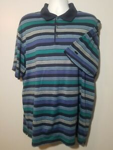 Tiger woods collection Dri fit golf shirt XXL blue striped Excellent condition $18.99