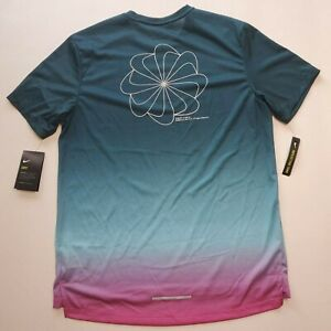 Nike Running Dri Fit Swoosh Pinwheel Green pink Fade Reflective Trim CT7804 496 $34.99