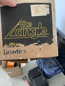 1986 AMF Black The Angle Bowling Ball 16 lbs Undrilled New w Beaten up Box $150.00
