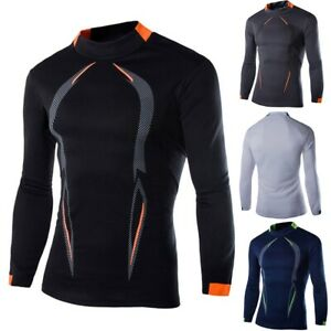 Men Compression Cool Dry Shirt Long Sleeve Under Base Layer Sports Gym Tops $6.64