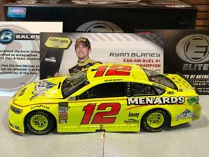 Autographed 2018 Action RCCA Elite Ryan Blaney #12 Menards Can Am Duel Win 1 24