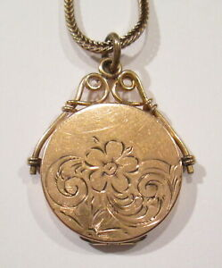 Antique Victorian Edwardian Wightman amp; Hough Company Locket on Chain $50.00