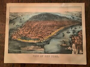 Currier amp; Ives small folio quot;View of New Yorkquot; New Best 50 $225.00