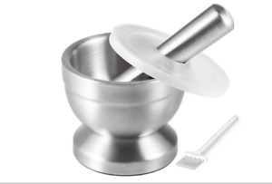 Tera 18 8 Stainless Steel Mortar and Pestle with BrushPill CrusherSpice Grinde $18.61
