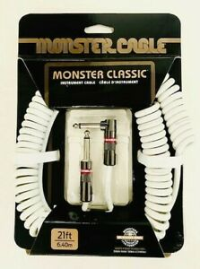 Monster Prolink Classic 1 4quot; Instrument Cable 21 ft Coiled White $34.99