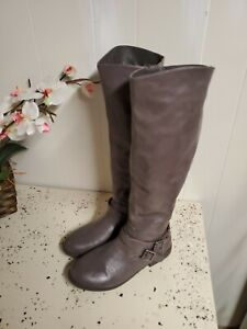 SIZE 9 BOOTS WOMENS BAMBOO BRAND GREY FALL TALL BOOTS