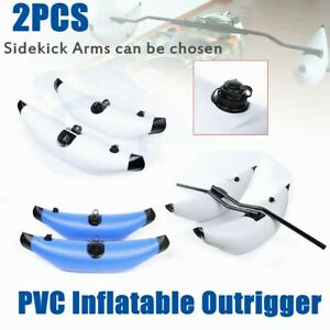 2x Durable Kayak Fishing Inflatable Outrigger Stabilizer with 2 Sidekick Arms