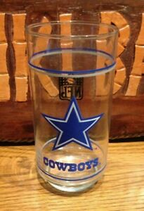 Dallas Cowboys NFL Mobil Oil Football Glass p $6.99