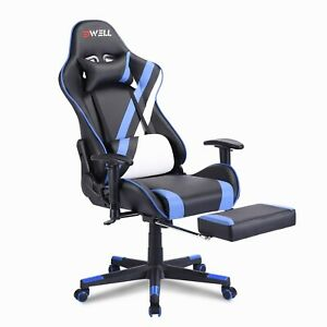 Racing Gaming Chair Recliner Footrest Swivel Computer Desk Chairs Home Office $149.99
