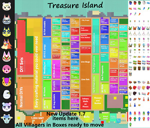 🌞 Online Now 🌞 Toy Day Treasure Island Animal Crossing 1 Hour Of Trips $18.99