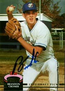 1992 Topps Club BRANDON CROMER Signed Card autograph BLUE JAYS BREWERS #1 PICK $1.99