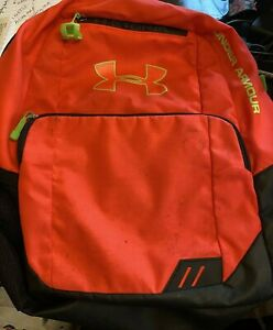 Under Armour stock Backpack Orange and Green $10.00