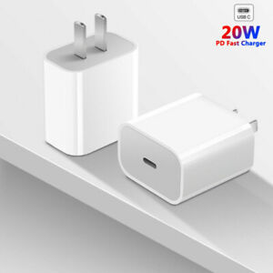 For iPhone 12 Pro 11 13 Pro Max XR iPad Fast Charger 20W PD Power Adapter Type C