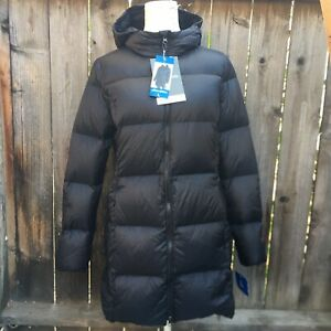 Eddie Bauer Womens Down Puffer Jacket Coat Hooded Zip Up Insulated Winter New $49.99