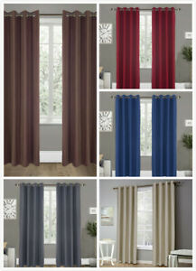 2 Panels Lined Backing Heavy Thick Blackout Window Curtains Drapes 52quot;Wx84quot;L $20.99