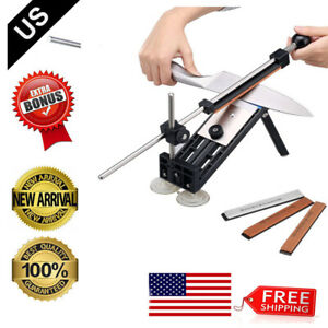 Pro Knife Sharpener Kitchen Sharpening System Fix Angle With 4 Sharpening Stones $24.69