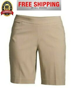 Time And Tru Womens Shorts Bermuda Millennium Pull On Size 161820Stretch NEW $12.99