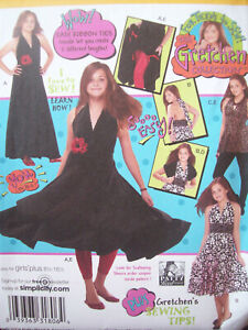Simplicity Pattern 2915 Gretchen Collection Teen Sewing Sizes 8 1 2 16 1 2 UCNOS $10.00