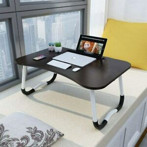 Foldable Portable Laptop Stand Bed Lazy Laptop Table Small Desk Breakfast Tray $20.50