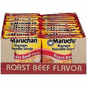 Maruchan Ramen ROAST Beef 3 Ounce Pack of 24 Noodles soup $21.98