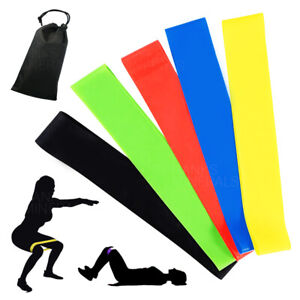 Resistance Bands Set Workout Exercise Gym Loop Fitness Yoga Crossfit Strength $7.98