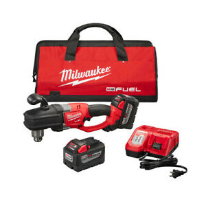 Milwaukee 2707 22HD Cordless Right Angle Drill Kit 18.0V 2 9 Ah Batteries $529.99