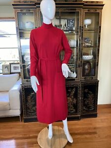 Stunning Vintage 1960s Norman Norell Red Dress