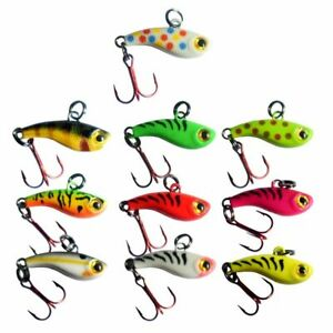 Kenders TUNGSTEN T Rip Mini Vibe Bait Jig Hard Plastic Ice Fishing Lure