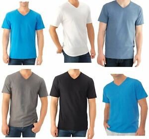 Fruit of the Loom Select Men#x27;s V Neck T Shirts 6 8 Pack M 3X