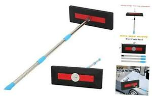 Roof Snow Rake Snow Removal Tool with Adjustable Pole for Roof No Scratch Pus $45.16