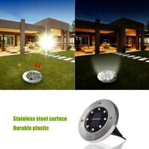 8 LED Solar Power Light Outdoor In Ground Lawn Pathway Waterproof Lamp USA $16.99