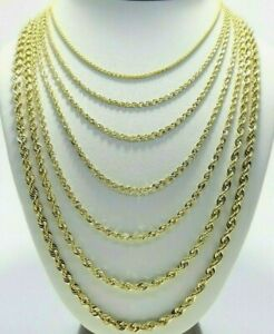 Real 10K Yellow Gold 2mm 6mm Diamond Cut Rope Chain Necklace Bracelet 16quot; 30quot; $139.96