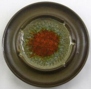 vintage ROBERT MAXWELL Mid Century crackle glass ART ASHTRAY mcm 5pix $19.99