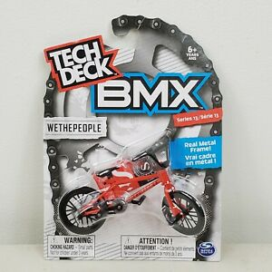 Tech Deck BMX Metal Finger Bike Wethepeople Red Series 13 Ages 6 Spin Master $19.99