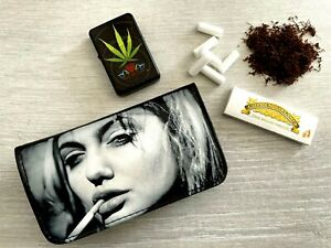 Tobacco Pouch Pu Leather For Rolling Cigarette Wallet Purse Holder Case Bag A18