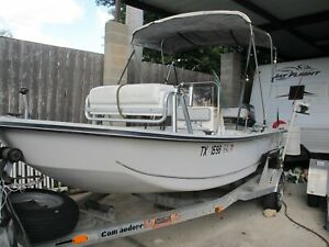 1997 Kenner Pro 16#x27; Skiff fishing boat 60HP Motor Trailer
