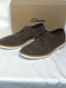 Clarks Oxfords Mens Shoes Draper Lace Taupe suede US 10M gray $79.99