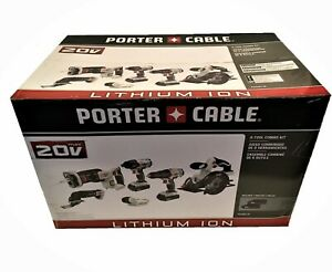 Porter Cable 20V MAX Lithium Ion 6 Power Tool Combo Kit w 2 Batteries PCCK6116R $285.00