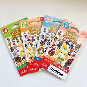 Animal Crossing Series 1234 amiibo Cards Factory Sealed 6 cards Nintendo $19.99