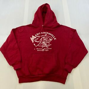 VTG SPORTSWEAR MEN SIZE MEDIUM MARGARITAVILLE RED HOODIE SWEATSHIRT MADE IN USA $19.49