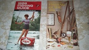 1969 1970 Genesee Beer Fishing Guides Pennsylvania Woman on Cover
