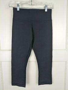 Lululemon Wunder Under Black Cropped Leggings Active Yoga Womens Size 4 $29.99
