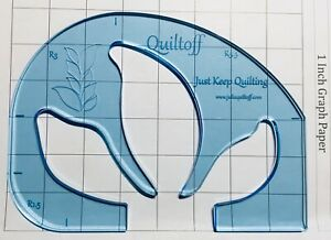 Petal Feather Quilting Ruler Leaf $20.00