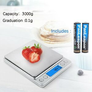 Digital Scale 3000g x 0.1g Jewelry Kitchen Weight Food Pocket Electronic Balance $9.88