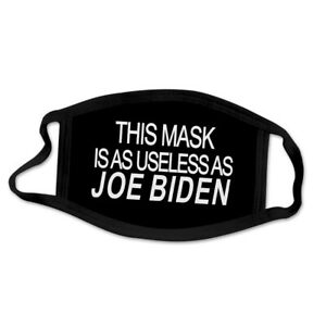 TWO This Face Covering is a USELESS as JOE BIDEN Face Covering New $8.95