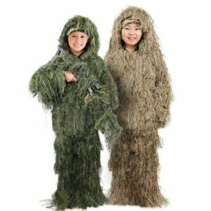 Hunting Clothes Bionic Ghillie Suits Camouflage Birdwatch Yowie Sniper Children