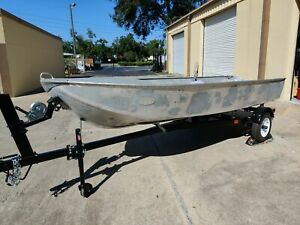 1960 Orlando Clipper quot;Fishermanquot; 14#x27; Fishing Boat Boat Trailer amp; 25hp motor