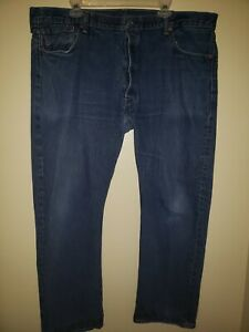 Vintage Men's LEVIS 501 STRAIGHT BUTTON FLY Actual Size 42 X 30 Mens Jeans 42 30