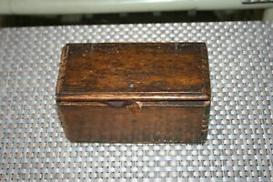 Antique Sewing Machine Parts Wood Puzzle Box quot;Patented 1889 February 19quot; Unique $19.99